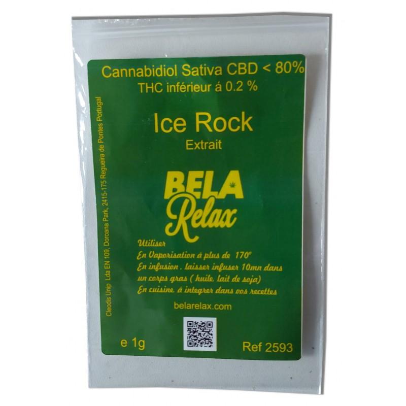 Sachet d'Ice Rock un cbd puissant pour une soirée forte entre amis