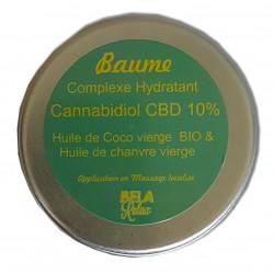 Baume hydratant huile de chanvre, huile de coco, une médecine douce.