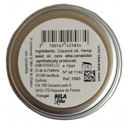 Baume au CBD à l'huile de chanvre et son CBD 1500mg, une drogue douce au toucher.