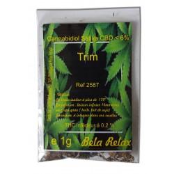 Premium TRIM une bonne idée de gouter facilement à un mix de fleurs CBD.